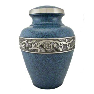 Elegant, Avalon Evening Blue Pet Memorial Urn - Medium