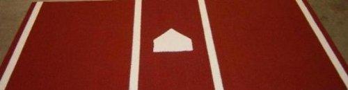 Trigon Sports Pro Turf Home Plate Mat, Clay, 6' x 12'