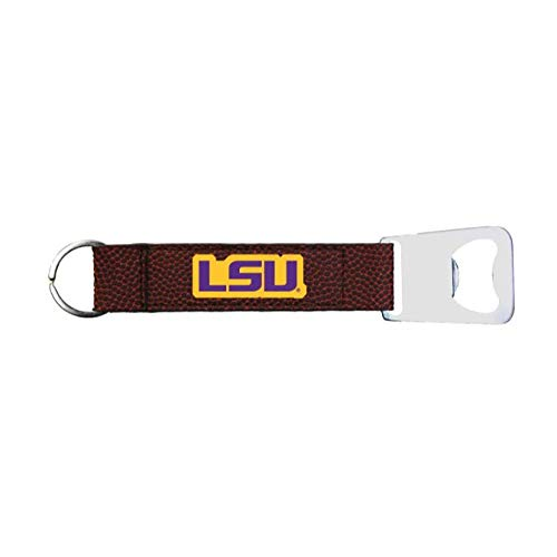 - Zumer Sport LSU Tigers Football Leather Keyring Bottle Opener Keychain - Made from The Same Exact Materials as a Football - Brown