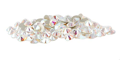 144 pcs Crystal AB (001 AB) Swarovski NEW 2088 Xirius 20ss Flat backs Rhinestones 5mm ss20 ()