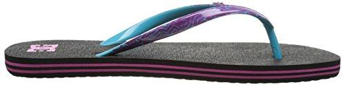 DC Shoes Spray Se, Women Flip Flop Black (Black/Purple)