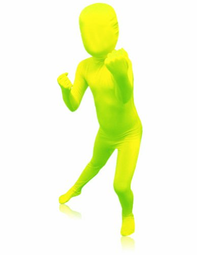 Super Skins Costume (AltSkin Unisex Full Body Spandex/Lycra Suit, Highlighter, Kids)