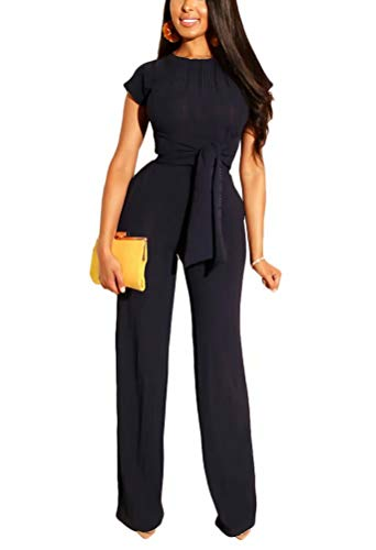 - Women¡¯s Two Piece Suit Crop Rib Tops + High Waist Pants Sweatsuits Jogging Casual Set Black XXL