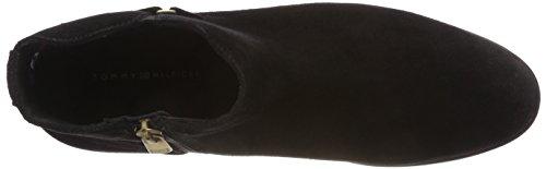 Stivali ° Scamosciata Hilfiger nero Tommy Nero Fibbia Donne 990 Caviglia Pelle Bootie In Delle qRn1pdqw4r