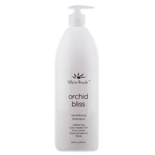 White Sands Orchid Bliss Revitalizing Shampoo 33 Ounce Sulfate Free, Moisture Balancing, Conditioning, Gentle Cleansing, Color Safe Shampoo For Short, Medium & Long Hair. All Hair Types. ()