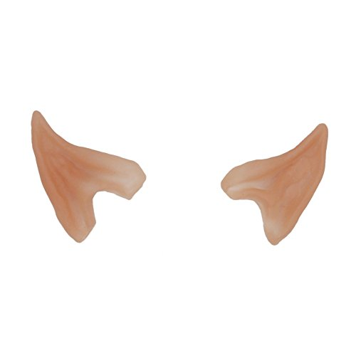 1 Pair Latex Soft Elf Ear Fake Ears Tips For Any Themed Party Fairy Pixie Cosplay Accessories Halloween Party Latex Soft Pointed Prosthetic Tips Ear Super Ear Wipes