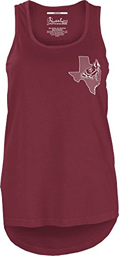 Three Square by Royce Apparel NCAA Texas A&M Aggies Junior's Comfort Colors Tank Top, Large, Maroon