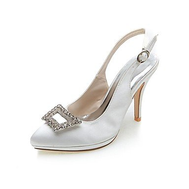 Ivory Silver CN42 amp;Amp; Blue Satin UK7 10 US9 5 Heel 8 Summer Fall Party White Wedding Stiletto Black 5 Women'S EU41 Spring Pink Evening Purple 6YPaSn