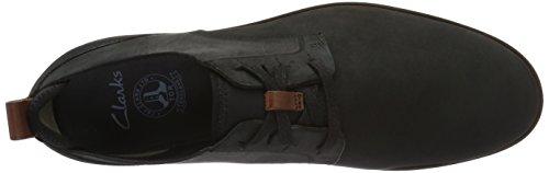 Clarks Trigen Lace, Zapatos de Cordones Derby para Hombre Negro (Black Nubuck)