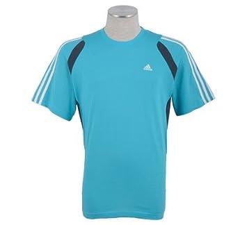 Adidas Climalite Sport Crew – Camiseta para Hombre, Mujer Hombre, Hellblau - Grau -
