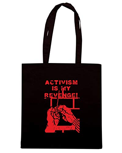 Speed Shirt Borsa Shopper Nera TCO0018 ACTIVISM IS MY REVENGE
