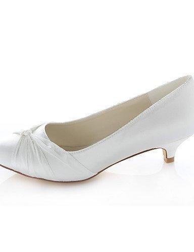 ShangYi Schuh Damenschuhe - High Heels - Hochzeit / Kleid - - Seide - Niedriger Absatz - Kleid Absätze / Rundeschuh - Blau / Lila / Rot / Elfenbein / ChampagnerPurple e3ea71