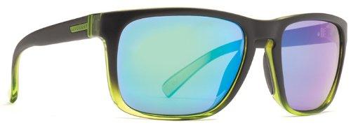 VonZipper Lomax Lomax Square Sunglasses,Black, Green & Glacier,One - Von Green Zipper Sunglasses