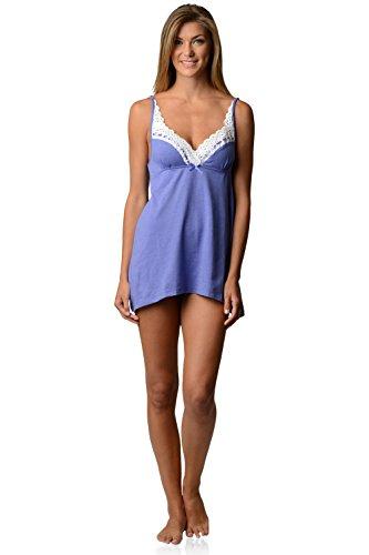 Casual Nights Women's Sleepwear Eyelet Lace Sweatheart Chemise Nightie Slip - Purple - X-Large