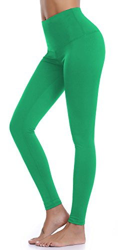 Aenlley Womens High Waist Yoga Pants Tummy Control Workout Training Tight Leggings Color Green Size M (Texas Workout Pants)