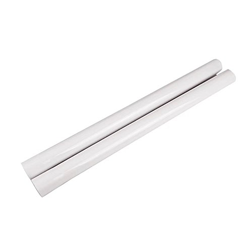 "Huiaway 1-1/4"" 32mm Extension Wands 1.25inch Tube Hose Plastic Wand Pipe for Vacuum Cleaner Attachment Extension Wand to 17.71inch Long 2Pcs(White)"