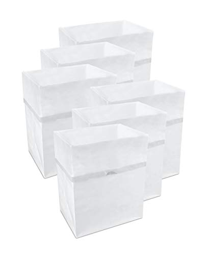 Clean Cubes 13 Gallon Disposable Trash Cans & Recycling Bins, 6 Pack (White)) -