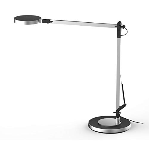 Bazz T19207S Modern Integrated LED Table Lamp, Touch Dimming, Energy Efficient, Adjustable, 20 in, Silver