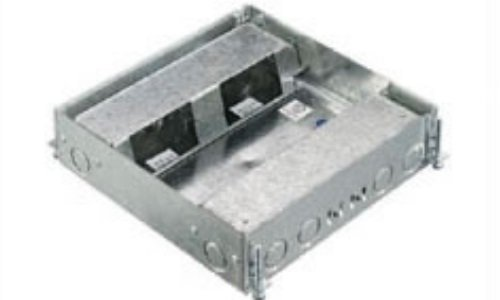 Hubbell Wiring Systems HBLCFB401BASE Stamped Steel 4-Gang...