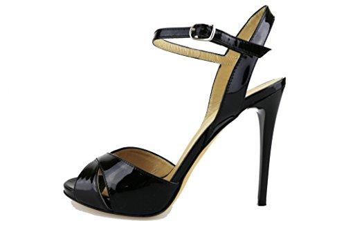 Sandals Black Patent DEL Leather EU Woman 9 US 39 GATTO 7wZq6U