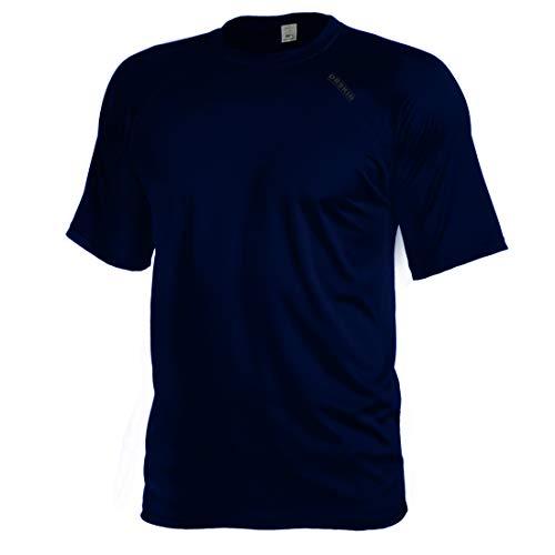 (DRSKIN Men's Cool Quick Dry Sun Protection Short Sleeve Rash Guard Swim Sports Tee Shirt UPF 50+ (BSSDN27,)