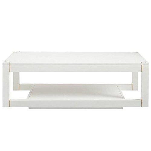 (Stanley Furniture Panavista Floating Parsons Rectangular Cocktail Table in Alabaster)