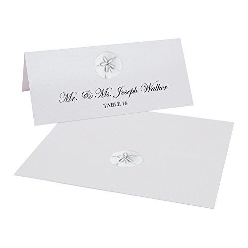 Sand Dollar Easy Print Place Cards, Pearl White, Set of 450 (113 Sheets) by Documents and Designs