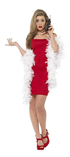 Smiffy's Clueless Cher Costume, Dress, Feather Boa & Phone Accessory, Size: ()