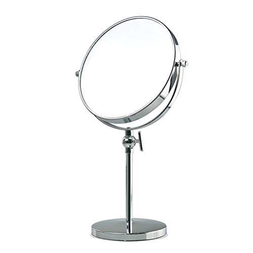Makeup Mirror Double-Sided Round Vanity Mirror 8-Inch Table Height Adjustable, Optional 3X/5X/7X/10X -