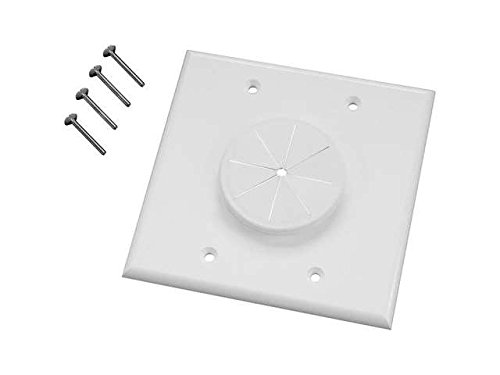 (AVBcable.com MIDLITE Wireport Plate 2GWH-GR2 Wall Plate - White )