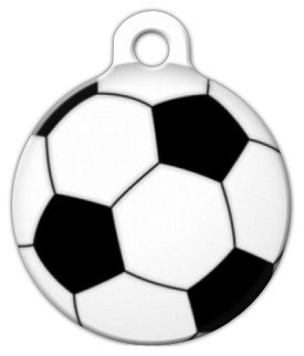 Soccer Ball Pet ID Tag for Dogs and Cats - Dog Tag Art - LARGE SIZE