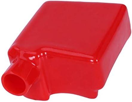 Borne batterie universel protecteur isolant PVC rouge couvre 75 x 60 x 33mm