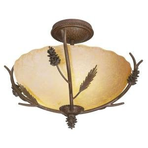 Lodge Collection 3 Light Semi 12.75''h x 17''w x 17 Bronze/copper by Hampton Bay