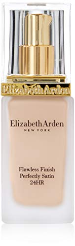 Finish Satin Foundation - Elizabeth Arden Flawless Finish Perfectly Satin 24hr Broad Spectrum SPF 15 Makeup, Soft Shell, 1.0 fl. oz.