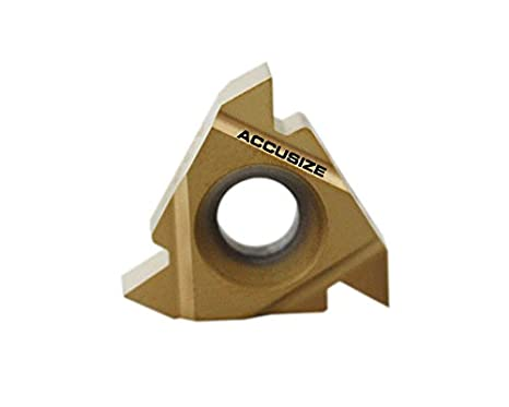 10 Pcs//Box Accusize Industrial Tools 16er Ag60 Carbide Inserts Tin Coated 2652-0025