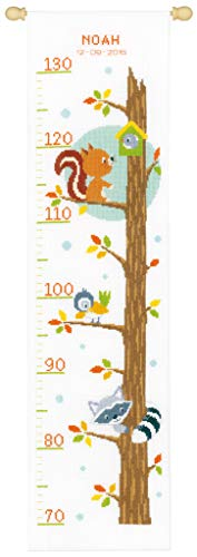 (Vervaco Height Chart Animals in Tree Cross Stitch)