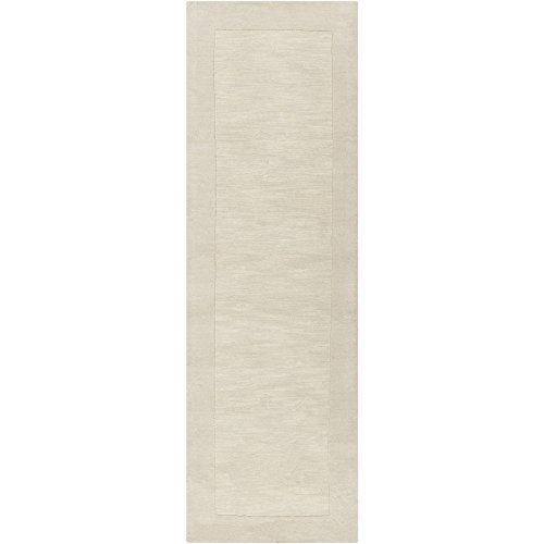 "Surya Mystique M-348 Transitional Hand Loomed 100% Wool Winter White 2'6"" x 8' Runner durable service"