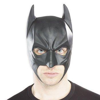 [Batman 3/4 Vinyl Mask Costume Accessory] (Batman Vinyl 3/4 Mask)