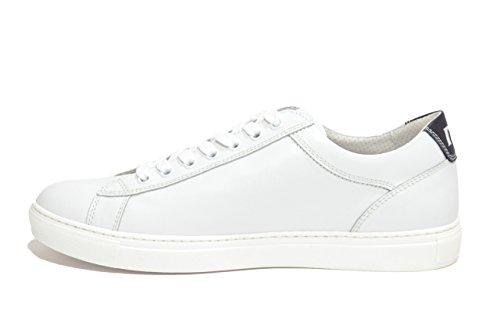 Nero Giardini Sneakers basse moto gp bianco 4930 scarpe uomo P704930U