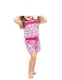 Andreita Jump Suit con Estampado de Corazones