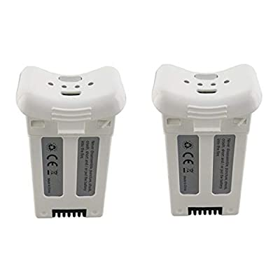 Faironly 2PCS 3.7V 1000mAh Lithium Battery for S20W T25 Four-axis Drone Spare Parts Remote Control Aircraft White: Toys & Games