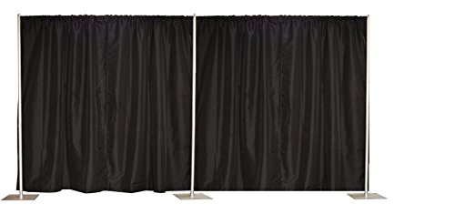 8' x 20' Pipe and Drape, Backdrop Kit in Premier Fabric … (8' x 20' Black) by Crowd Control Center