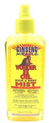Ginseng Miracle Wonder 8 Oil Hair & Body Mist 7,5 oz (3-Pack) avec lime à ongles gratuite
