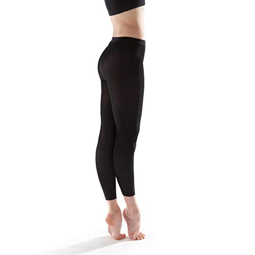 Grace Footless Dance Tights (Black, Adult Small 2 Pack)