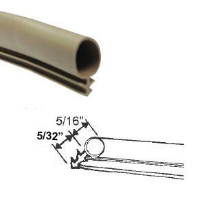 STB Weatherstrip, Kerf-Mounted, Bulb Type, Tan - 25 ft Roll