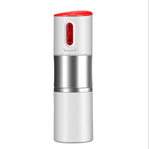 Portable Coffee Grinder Rechargeable Coffee Grinders Automatic Portable Coffee Machine For Home Office Cars Camping Travel (White) by zhaodawei