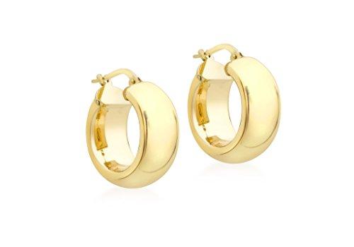 Boucles d'oreilles créoles or jaune 9carats poli 18mm large