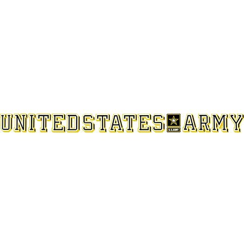 U.S. Army With Star Logo Clear Window - Window Decal Sticker Strip