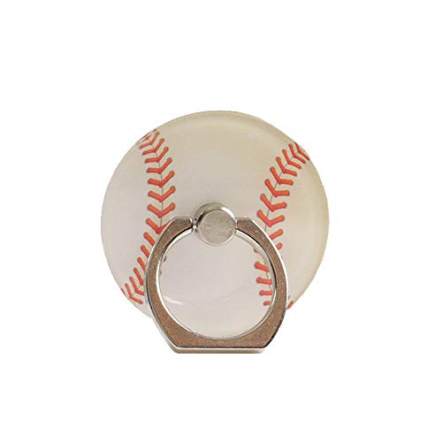 ZOEAST(TM) Phone Finger Ring Sport Ball Holder Case Stand Universal 360° Adjustable Stent Mount Kickstand Sticker Grip Compatible with All iPhone Plus Samsung Android iPad Pad (Baseball) (Baseball Cell Holder Phone)