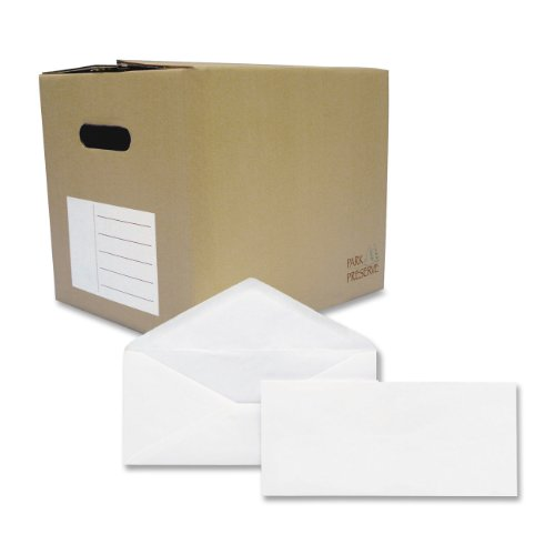 Brightness 1000 Envelopes (Quality Park #10 Park Preserve Envelope, 4 1/8 X 9 1/2 Inches, White, 1000 count box (90020B))